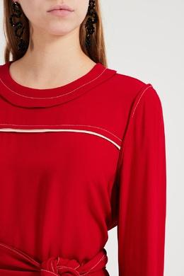 Красное платье с контрастной отделкой Marni 294163637
