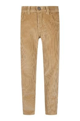 Светло-коричневые вельветовые брюки Fendi Kids 690161906