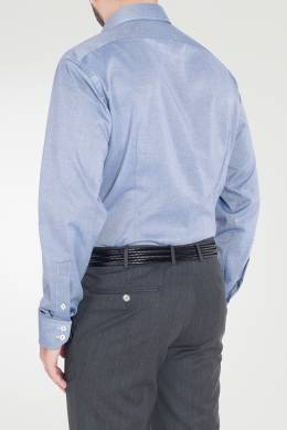 Синяя рубашка из ткани с блеском Van Laack 2285163166