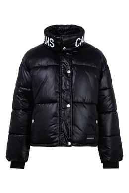 Черная куртка с высоким воротом Calvin Klein Kids 2815163934