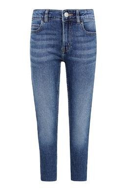 Голубые джинсы с эффектом замятия Calvin Klein Kids 2815164084
