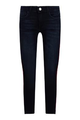 Синие джинсы-скинни с лампасами Calvin Klein Kids 2815164075