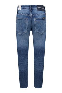 Синие джинсы с завышенной талией и эффектом замятия Calvin Klein Kids 2815164087