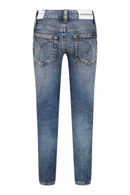 Синие джинсы с выбеленным эффектом Calvin Klein Kids 2815164082