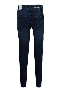 Зауженные темно-синие джинсы Calvin Klein Kids 2815164103