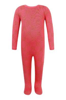 Вязаный комбинезон кораллового цвета Gucci Kids 1256164177