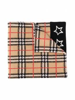 Burberry Kids клетчатый шарф с принтом 8018209