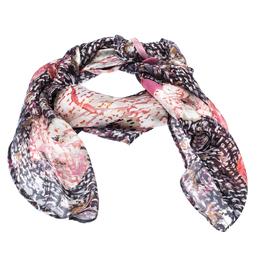 Chanel Multicolor Floral Printed Silk Scarf 238591