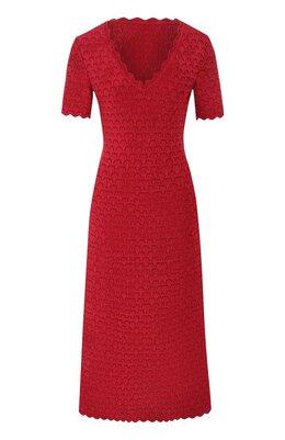 Платье из вискозы Alaia 9W9RM86LM496