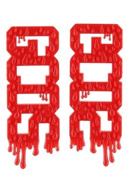 Красные серьги с логотипом GCDS 2981164963