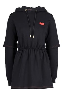 Черное платье с капюшоном GCDS 2981165035