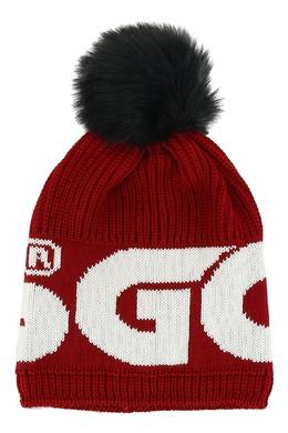 Красная шапка с помпоном GCDS 2981165004