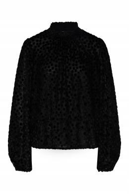 Черная блуза в горох Maje 888164531