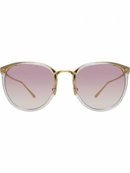 Linda Farrow солнцезащитные очки в оправе 'кошачий глаз' LFL251C60SUN