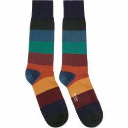Paul Smith Multicolor Ian Stripe Socks 201260M22010101GB
