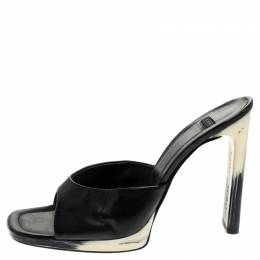 Casadei Black Leather Open Toe Sandals Size 41 243638