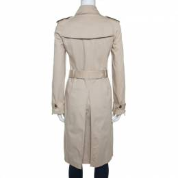 Burberry Beige Gabardine Double Breasted Trench Coat S 242100
