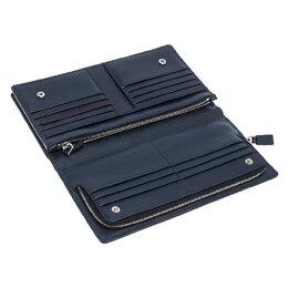 Prada Navy Blue Saffiano Leather Bifold Long Wallet