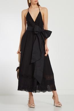 Платье с кружевом и бантом No. 21 35118223