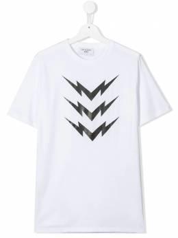 Neil Barrett Kids футболка с принтом Bolt 020633T
