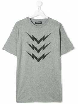 Neil Barrett Kids футболка с принтом Bolt 020633