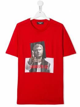 Neil Barrett Kids футболка с принтом Gangsta 02 020590