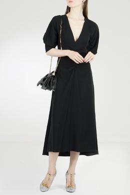Черное платье со сборками No. 21 35165296