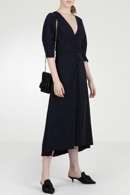 Синее платье со сборками No. 21 35165294