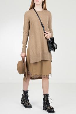Бежевое комбинированное платье No. 21 35165309