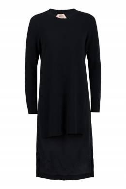 Черное комбинированное платье No. 21 35165308