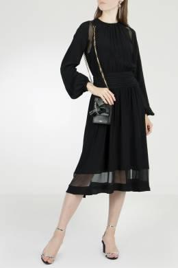 Черное платье с полупрозрачными вставками No. 21 35165287