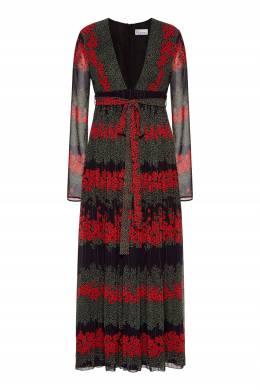 Платье-миди с узорами Red Valentino 986165421