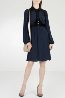 Синее платье с пуговицами No. 21 35165305