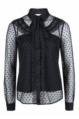 Черная полупрозрачная блузка с узором Red Valentino 986165410