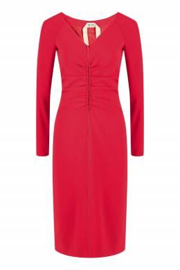 Красное платье с драпировкой No. 21 35165303