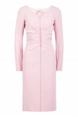 Розовое платье с драпировкой No. 21 35165298