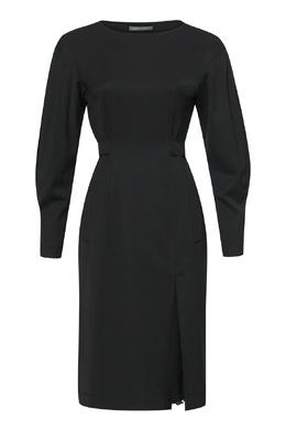 Черное шерстяное платье Alberta Ferretti 1771165277
