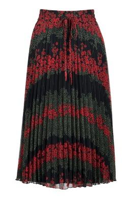 Черная плиссированная юбка-миди с узорами Red Valentino 986165456