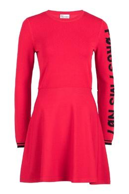 Красное трикотажное платье-мини с логотипом Red Valentino 986165406