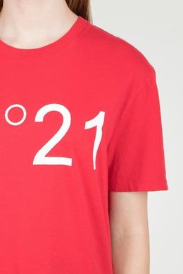 Красная футболка с логотипом No. 21 35165339