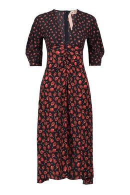 Шелковое платье с принтом No. 21 35165290