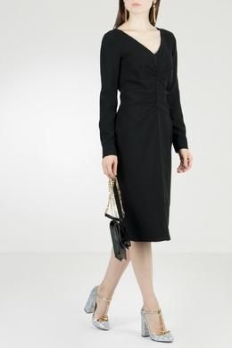 Черное платье с драпировкой No. 21 35165304