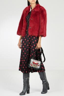 Короткое красное двустороннее пальто Red Valentino 986165420