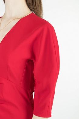 Красное платье со сборками No. 21 35165297