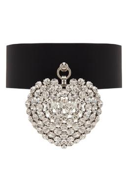 Кожаный чокер с кристаллами Alessandra Rich 3163635