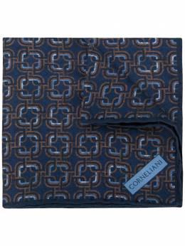Corneliani платок-паше с геометричным принтом 84UF269820392