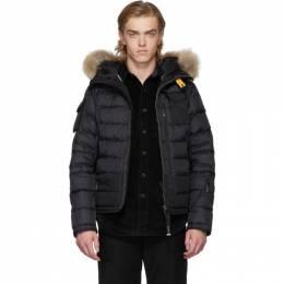 Parajumpers Black Down Mountain Loft Skimaster Jacket PM JCK ML01