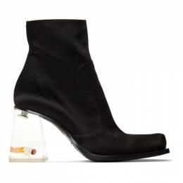 Maison Margiela Black Rose and Cigarette Heel Boots 192168F11303813GB