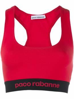 Paco Rabanne спортивный бюстгальтер с логотипом 19AJTO001VI0071