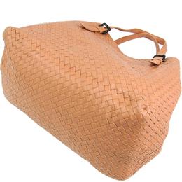 Bottega Veneta Brown Lambskin Intrecciato Nappa Tote Bag 243401